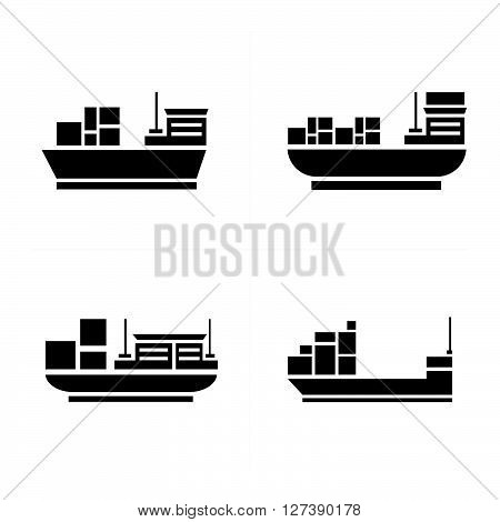 vector transport boat Icons support vector design eps 10.