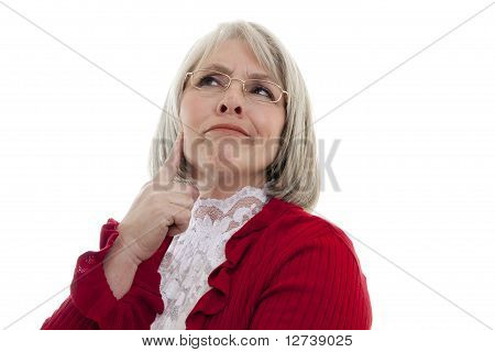 Thoughtful Senior Woman