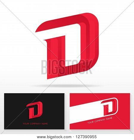 Letter D logo design - vector sign. Business card templates.