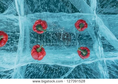 Sweet Pepper On The Ice.