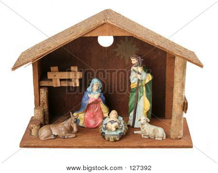 Nativity Scene With Stable