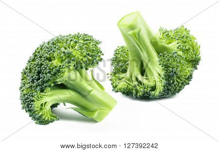Broccoli separate isolated on white background as package design element