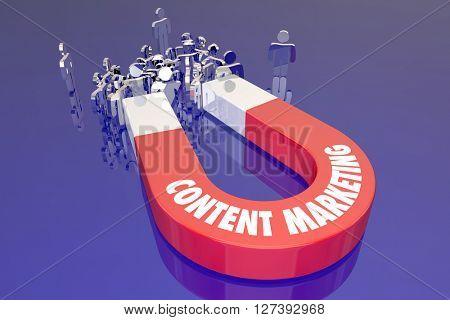 Content Marketing Digital Information Service Website Internet Magnet Words