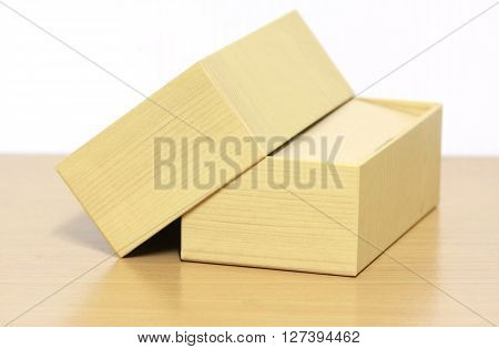 brown carton box on white background., Carton box