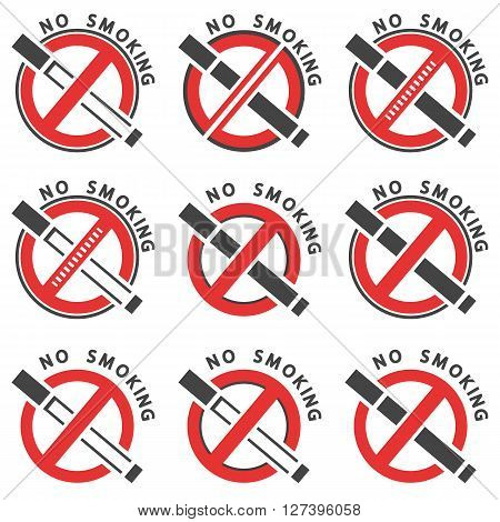 Abstract icon of the warning of a smoking ban