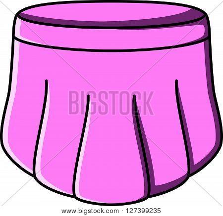Skirt doodle illustration design .EPS10 editable vector illustration design