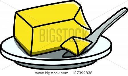 Butter doodle illustration .EPS10 editable vector illustration design