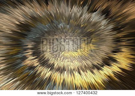 Wonderful Twist Brown And Gold Millennium Abstract Background