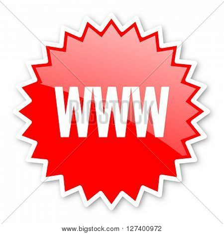 www red tag, sticker, label, star, stamp, banner, advertising, badge, emblem, web icon