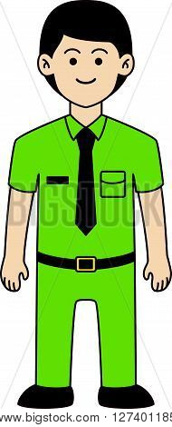 Principal man doodle cartoon design illustration .Eps 10 editable vector Illustration design