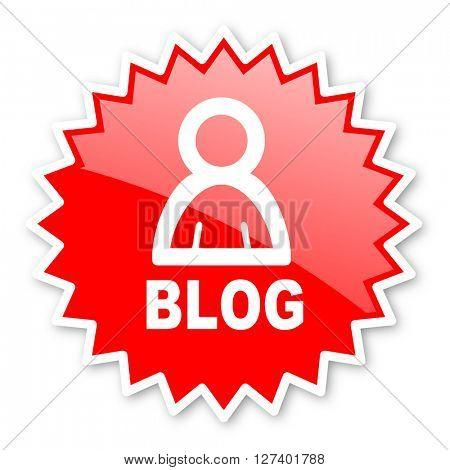 blog red tag, sticker, label, star, stamp, banner, advertising, badge, emblem, web icon