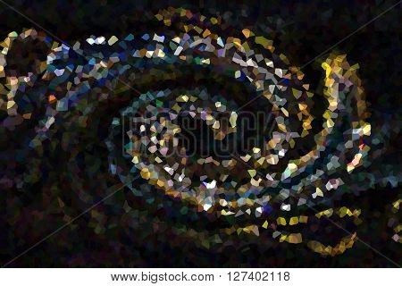 Wonderful Various Shape Colour Twist On Black Abstract Background