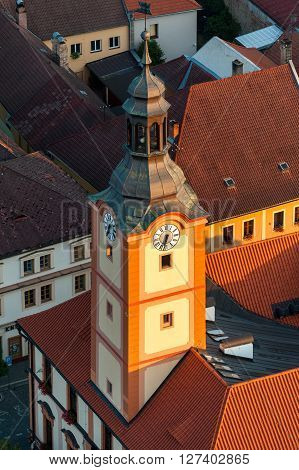 Susice in Czech Republic on the aerial photo