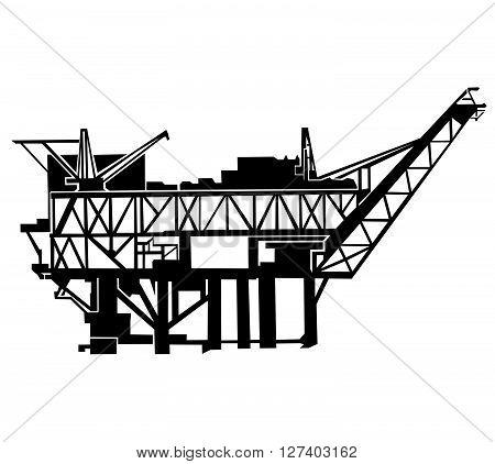 Offshore oil rig .Eps 10 editable vector Illustration design