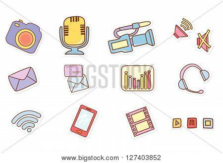 Audio Visual Media .eps10 editable vector illustration design