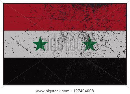 Syria Flag Grunged