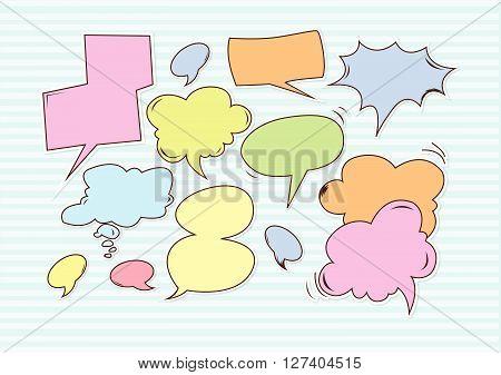 Buble speech .Eps 10 editable vector Illustration design