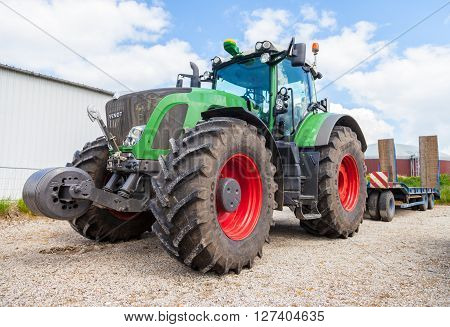 ALTENTREPTOW MECKLENBURG- WEST POMERANIA - MAY 2015 german Fendt tractor stands on a oldtimer show in altentreptow germany at may 2015.