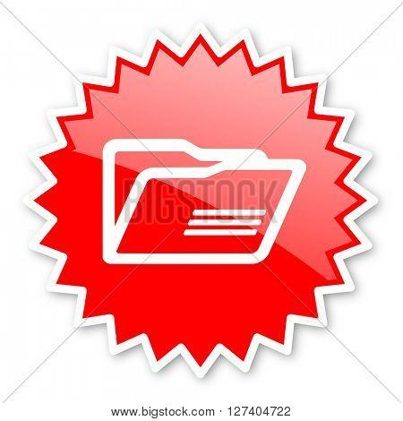 folder red tag, sticker, label, star, stamp, banner, advertising, badge, emblem, web icon