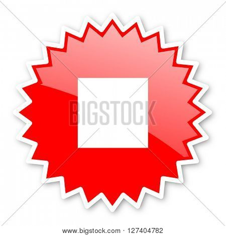 stop red tag, sticker, label, star, stamp, banner, advertising, badge, emblem, web icon