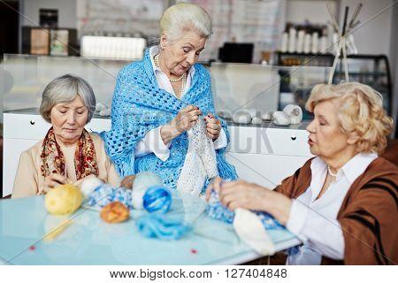Females knitting