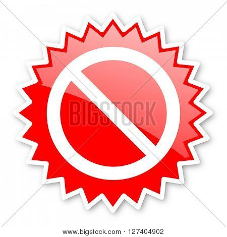 access denied red tag, sticker, label, star, stamp, banner, advertising, badge, emblem, web icon