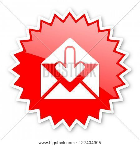 email red tag, sticker, label, star, stamp, banner, advertising, badge, emblem, web icon