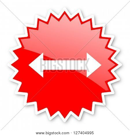 arrow red tag, sticker, label, star, stamp, banner, advertising, badge, emblem, web icon