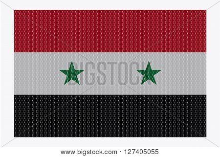 Syria Flag White Dots