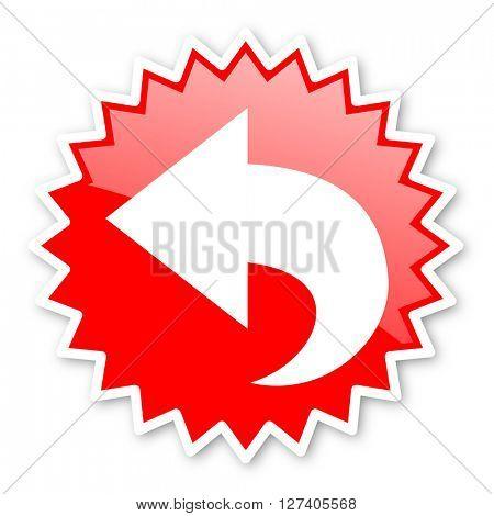 back red tag, sticker, label, star, stamp, banner, advertising, badge, emblem, web icon