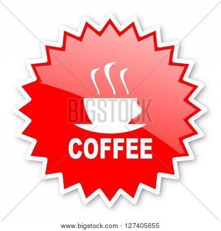 espresso red tag, sticker, label, star, stamp, banner, advertising, badge, emblem, web icon