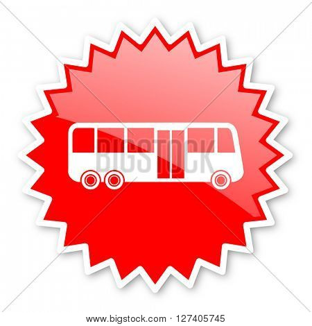 bus red tag, sticker, label, star, stamp, banner, advertising, badge, emblem, web icon