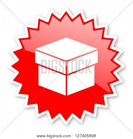 box red tag, sticker, label, star, stamp, banner, advertising, badge, emblem, web icon
