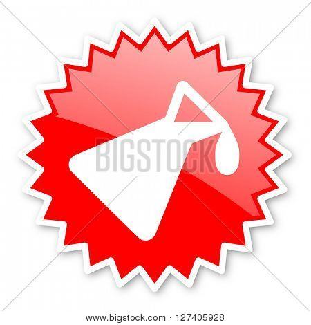 chemistry red tag, sticker, label, star, stamp, banner, advertising, badge, emblem, web icon