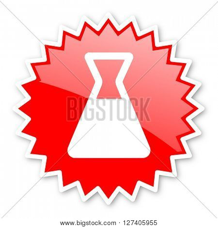 laboratory red tag, sticker, label, star, stamp, banner, advertising, badge, emblem, web icon