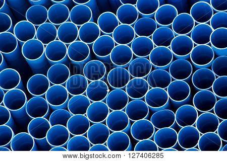 Circle Blue Pvc Tube