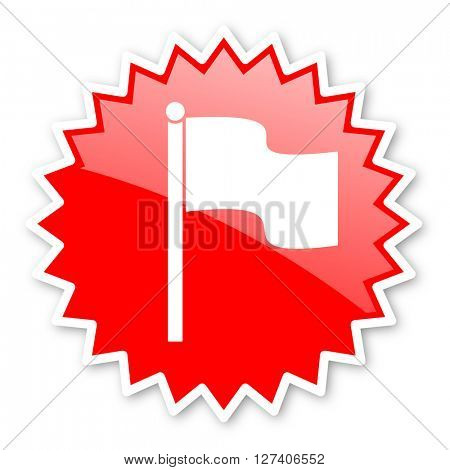 flag red tag, sticker, label, star, stamp, banner, advertising, badge, emblem, web icon