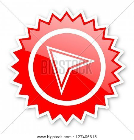 navigation red tag, sticker, label, star, stamp, banner, advertising, badge, emblem, web icon
