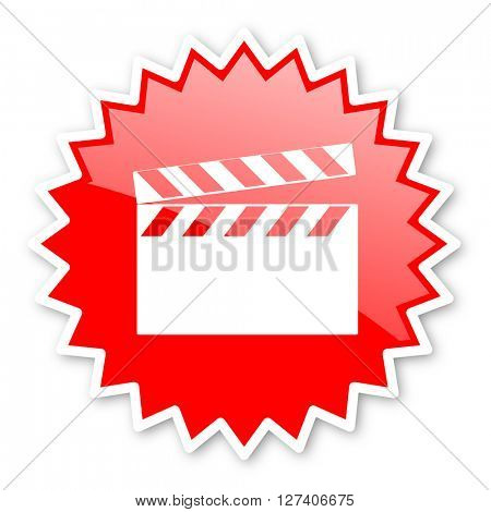 video red tag, sticker, label, star, stamp, banner, advertising, badge, emblem, web icon
