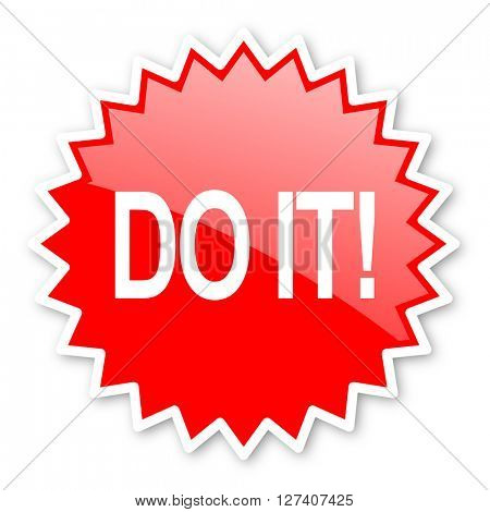 do it red tag, sticker, label, star, stamp, banner, advertising, badge, emblem, web icon