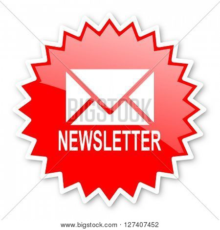 newsletter red tag, sticker, label, star, stamp, banner, advertising, badge, emblem, web icon