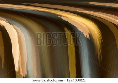 Abstract Earth Tone Colour In Waterfall Shape  Classic Background