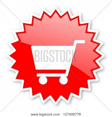 cart red tag, sticker, label, star, stamp, banner, advertising, badge, emblem, web icon