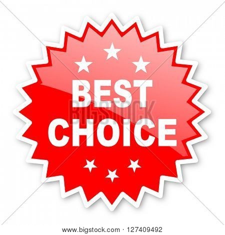 best choice red tag, sticker, label, star, stamp, banner, advertising, badge, emblem, web icon