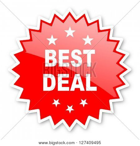 best deal red tag, sticker, label, star, stamp, banner, advertising, badge, emblem, web icon