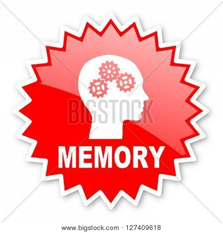 memory red tag, sticker, label, star, stamp, banner, advertising, badge, emblem, web icon