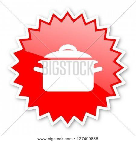 cook red tag, sticker, label, star, stamp, banner, advertising, badge, emblem, web icon