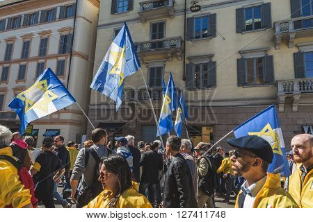 The Jewish Brigade At The Liberation Day Parade 2016 In Milan, Italy