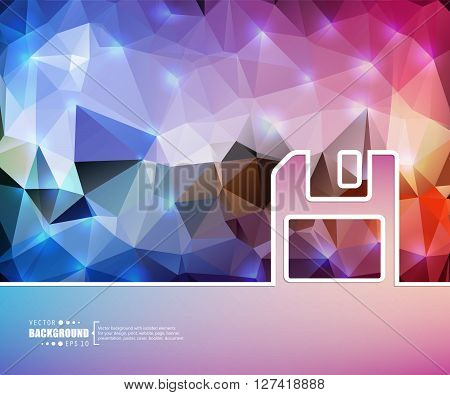 Creative vector floppy. Art illustration template background. For presentation, layout, brochure, logo, page, print, banner, poster, cover, booklet, business infographic, wallpaper, sign, flyer.
