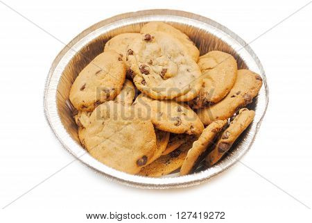 Chocolate Chip Cookies in a Foil Tin